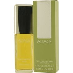 ALIAGE by Estee Lauder - Launched in 1972, Aliage by Estee Lauder is a chypre floral fragrance for women. Top notes are citruses, green notes and peach; middle notes are pine tree, jasmine, caraway and Brazilian rosewood; base notes are musk, oakmoss, vetiver and myrrh.