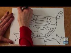 Video: How to Draw a Monster--lots of 2 minute how to draws, good for a sub!