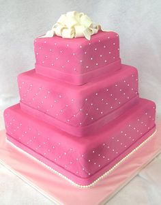 Hot pink quince cake!