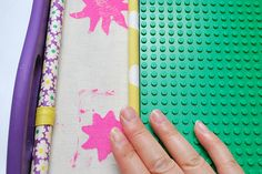 How to make rubber fabric stamps