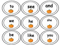 Free Fall Sight Word Games From The Teacher's Treasure Chest! Prep now, use later :)