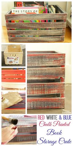 book crate, paint crates, chalk paint crate