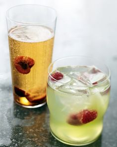 Champagne and Cherries - nothing is more refreshing than fresh fruit in a bit of bubbly