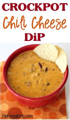 Crockpot Chili Cheese Dip Recipe! ~ from TheFrugalGirls.com ~ this delicious Slow Cooker dip couldn't be easier, and it's the perfect party-pleaser! #dips #slowcooker #recipes #thefrugalgirls