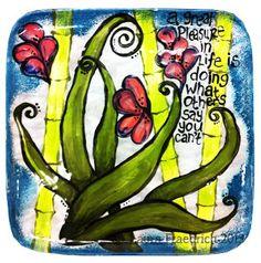 52 weeks of Art Plates with Laura Fraedrich: Weeks 11 - 14