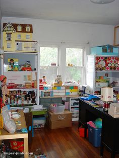A doll house and doll office!