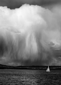Dramatic weather over Oslo city.