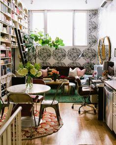 bookshelves in a bri