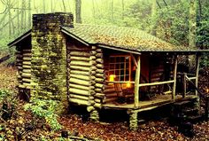 Old Log Cabin in the Woods