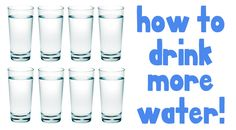 how to drink more water- some pretty clever and helpful tips!