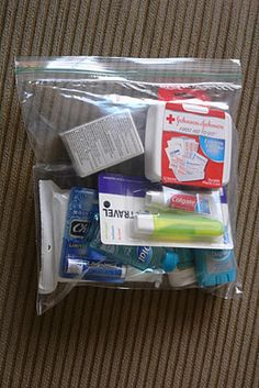 """""""Blessing Bag""""  something to keep in the car and give to someone in need."""