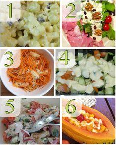 Cardápio de saladas