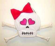 PINK Skull and Cross Bones Girly Pirate Pinata by PinataMama, $65.00