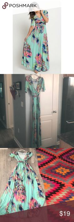CARALASE Sparks Maxi - Stretchy Large Such a pretty color.  Worn twice. Dresses Maxi