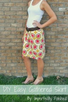 DIY Easy Pull On Skirt | DIY Easy Gathered-Waist Skirt | Imperfectly Polished