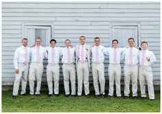 Pink Ties For Grooms