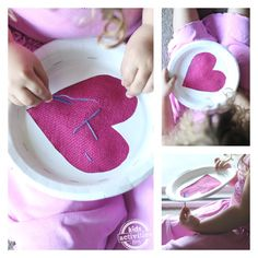Simple (and cheap) beginning sewing project for preschoolers from Kids Activities Blog.