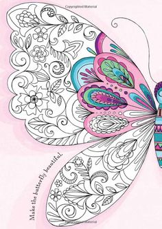Girls' World: Doodling and Colouring: Amazon.co.uk: Various Authors: Books color, butterfli doodl, mandala
