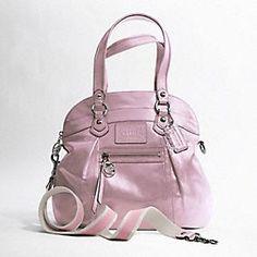 shiny coach bag