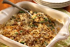 White and Green Bean Casserole featuring S&W White Beans!