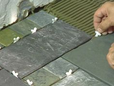 How to Give a Tile Facelift to an Ordinary Concrete Porch : How-To : DIY Network