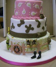 30th Birthday Cowgirl Cake (Side 1) by Rebeccas Tastebuds, via Flickr