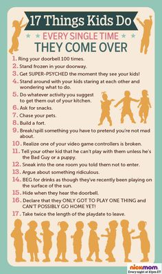 17 Things Kids Do Every Single Time They Come Over @letmestart is on @NickMom #kids #friends