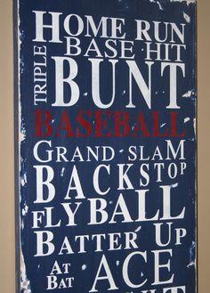 Baseball room wall art
