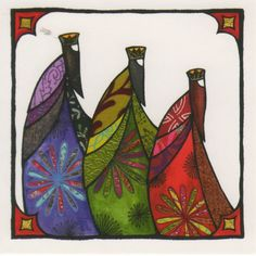 Christmas card - The Three Wise Men