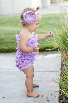 purple petti romper!