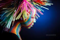 Japanese Straw Hair & Make-up art / by: Asami Toyoda, Yui Hirosawa and Toshimi Nakanishi (Japan) / Photographer Ilko Allexandroff