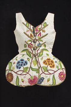 Woman's Bodice Front, 1730-1760