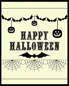 Free Happy Halloween Printable #free #printable #halloween