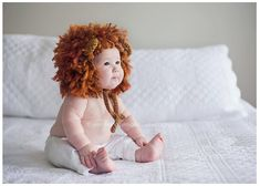 This handmade lion hat is stunning.
