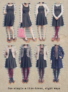 One dress 8 ways