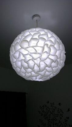 Cupcake liner bedroom pendant light