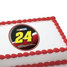 Nascar Edible Cake Decorations