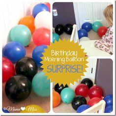 Birthday Morning Balloon Surprise {mama♥miss} ©2012