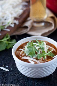 Garlic, Cheddar, and Stone Ruination IPA Soup