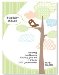 "Invite inspiration for ""Mama's Nesting"" baby shower"