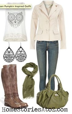 green fall outfit