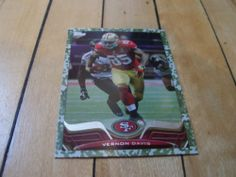 #2013Topps 315 #VernonDavis #Military #Camo Border #ParallelCard Numbered 2013 | #eBay #SanFrancisco #49ers