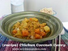 {recipe} Coconut Chicken Curry - www.ericksonandco.com