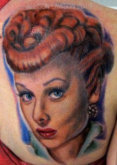 balls, friends, ball tattoo, tattoos, lucille ball, lucill tattoo, tattoo art, tattooart