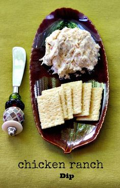 chicken breasts, chees dip, cheese dips, appetizer recipes, chicken cream cheese dip, can of chicken, appetizers, chicken ranch dip, finger food
