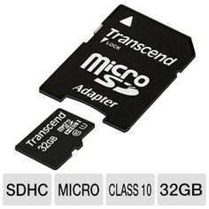 Transcend 32GB microSDHC Flash Memory Card tigerdirect.com $16