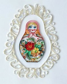 Matryoshka artists, paper dolls, card, paper work, papers, bird of paradise, paper quilling, paper crafts, design