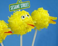 Sesame Street Cake Pops - Big Bird!