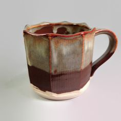 Fluted Coffee or Tea Mug by FutureRelicsGallery on Etsy, $25.00