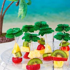 "Say ""aloha"" to fun finger food! Click to see how we made it & get more luau party food ideas!"